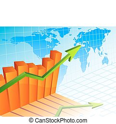 Business growth - Vector illustration - Business growth...