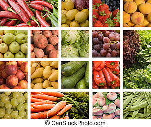 Fruits and vegetables - Colorful fruits and vegetables...