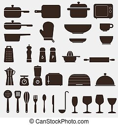 Kitchen Icon Set - Vector Graphics