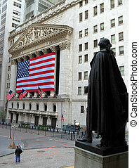 George Washington looking at the NYSE - George Washington...