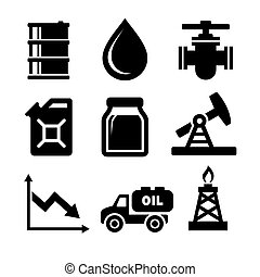 Oil Icons Set