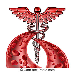 Símbolo, médico, sangue