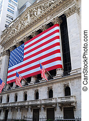 NYSE with the American flag