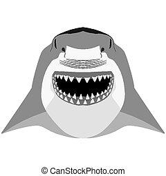 Shark mascot sport symbol