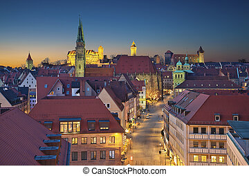 Nuremberg. - Image of historic downtown of Nuremberg,...