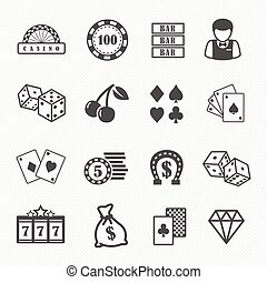 Casino and gambling icons - Casino and gambling vector icons...