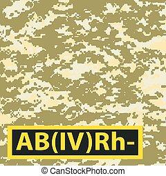 Badge AB blood group Rh-negative - Badge AB blood group,...