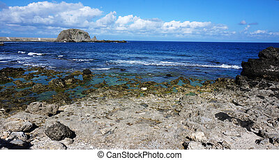 Rocky Coast, Kenting, Taiwan - Rocky Coast along the Pacific...