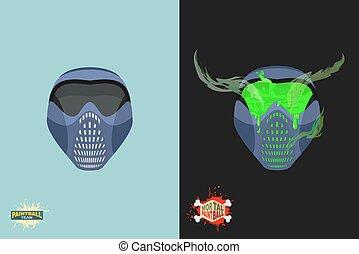 paintball  Mortal mask.