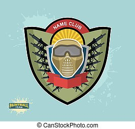paintball logo emblem paintball guns and Wings Mortal...