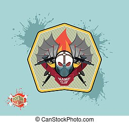 paintball logo emblem paintball guns and Wings Mortal...