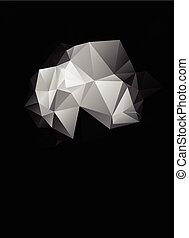 Gray White Polygonal Mosaic Background, Vector illustration,...