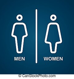 Restroom male and female sign vector illustration