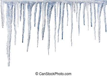icicles isolated on white backgroun