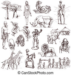 Africa travel - An hand drawn pack - Travel series: CENTRAL...