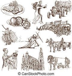 Austria travel - An hand drawn pack - Travel series: AUSTRIA...