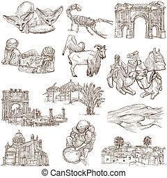 Algeria travel - An hand drawn pack - Travel series: ALGERIA...
