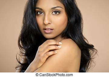 Indian Beauty - Beautiful young asianindian woman with long...
