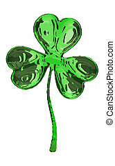 Clover - Stock Image - St Patricks day Clover - Stock Image