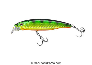 Wobblers fishing lure isolated on white background