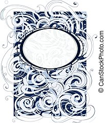 Decorative backdrop with elegant sw - Water and wind swirls...