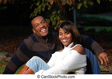African-American couple - African-American Couple smiling...