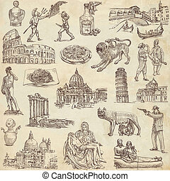 Italy travel - An hand drawn pack - Travel series: ITALY -...