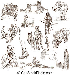 England travel - An hand drawn pack - Travel series: ENGLAND...