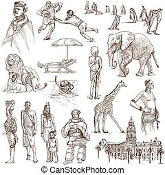 South Africa travel - An hand drawn pack - Travel series:...
