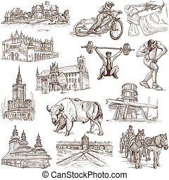 Poland travel - An hand drawn pack - Travel series: POLAND -...