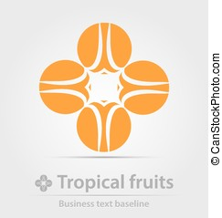 Tropical fruits business icon