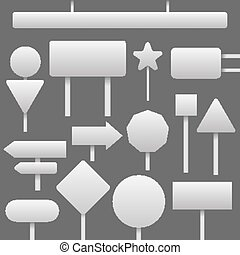 traffic blank signs set - traffic blank signs of different...