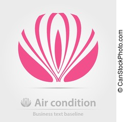 Air condition business icon for creative design