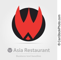 Asia restaurant business icon