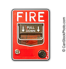 fire alarm box on white background