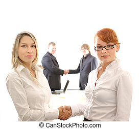 Business couple - Business picture illustrating female...
