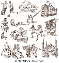Turkey travel - An hand drawn pack - Travel series: TURKEY -...