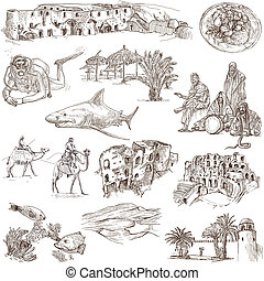 Tunisia travel - An hand drawn pack - Travel series: TUNISIA...