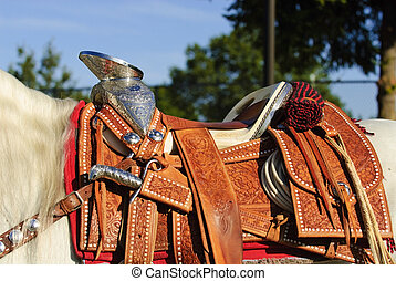 Parade Saddle - silver decorated californian parade saddle...