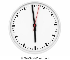 Clock with second hand. It takes 1 minute (sped up)