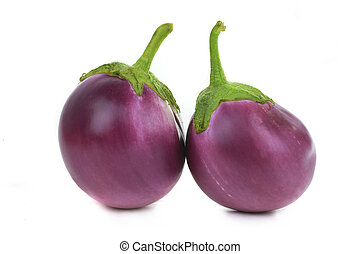 eggplants  - Two  eggplants isolated on white