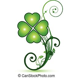 Clover shamrocks flower st patricks symbol icon vector logo...