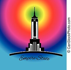 Empire state New York rainbow logo - Empire state New York...
