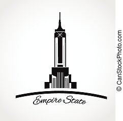 Empire state New York icon logo - Empire state New York...