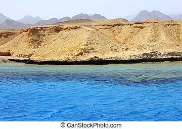 Red sea seashore on Ras Mohamed territory