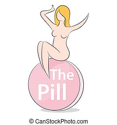 Woman On The Pill - An image representing a female on the...