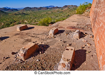 The Terrace of Belmont - The concrete terrace of the Tonopah...