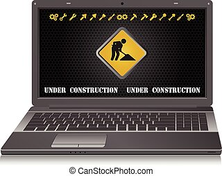 laptop Site in construction process