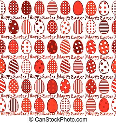 Easter wrapping paper seamless pattern