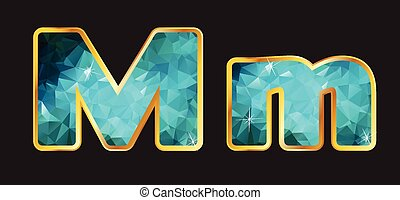 Mm with Gold and Teal - Mm in this series of letters made...